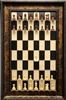 "3"" Golden Rosewood Taj Pieces on Black Maple board with Black Gold frame"