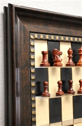 Black Maple Series with Checkered Bronze Frame