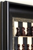 "2.5"" Rosewood Omega Chess Pieces on Black Maple with Dark Bronze Frame"