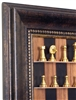 "3"" Nickel Plated Chess Pieces on Black Walnut board with Antique Frame"