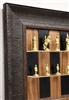"3"" Metal Camelot chess pieces my Italfama on Black Walnut board with Rustic Brown Frame"