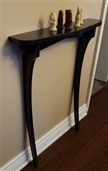 Black Lacquer two legged table