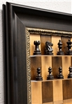 "3"" Taj Mahal Chess Pieces on Cherry Bean Board with Dark Bronze frame"