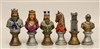 "3"" Colored Medieval Bust Chess Pieces"