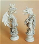 Hand Carved Dragon Set out of Deer Antler, Price Inclues board
