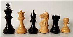 "3"" Supreme Chess Pieces, Ebonized"