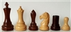"3"" Empire Golden Rosewood Chess Pieces"