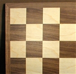 "15"" Basic Walnut and Maple Chess Board"