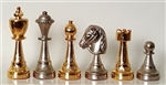"3"" Gold and Silver Chess Pieces (Italfama)"