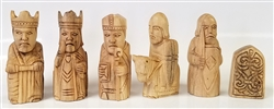 "3"" Isle of Lewis Chess Set, Hand Carved"