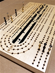Large Peg, Aspen Tree Cribbage Board