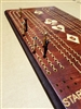 Large peg, Perfect Hand Cribbage board