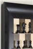 "3"" Antik Chess Pieces on Maple Nut Board with Wide Scoop frame"