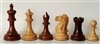 "3"" Golden Rosewood Old English Chess Pieces"