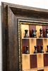 "3"" Murphy Chess Pieces on Red Cherry board with Antique Bronze frame"
