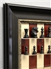 "3"" Red Maple Board with Dark Bronze frame and Ebony Camelin Chess pieces"