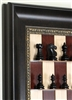 "3"" Taj Mahal Chess Pieces on Red Maple with Dark Bronze frame"