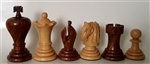 "3"" Midget Golden Rosewood Chess Pieces"
