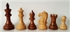 "3"" Supreme Golden Rosewood Chess Pieces"