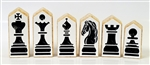 Original Traditional Block Chess pieces - Select a size