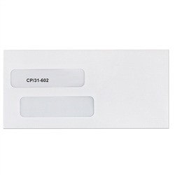 Large Double Window Envelope