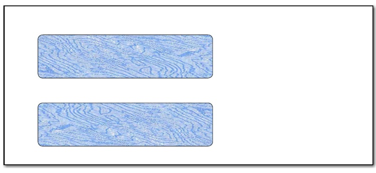 #10 Double Window Tinted Security Envelope