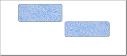 #10 ADP Tinted Secure Check Double Window Envelope