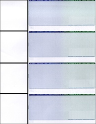 Premium Personal Check Stock - 4 Checks / Page  (1 Box - 1,000 Checks)