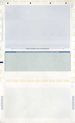 Pressure Seal Z-Fold Check Paper - Green 8.5 X 14  (1 Box - 1,000 Checks)
