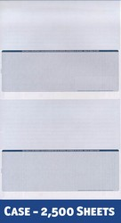 Value Single-Color Legal Voucher - 2 Checks / 2 Stubs per Page (1 Case - 2,500 Checks)