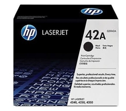 Genuine HP 4250 / 4350 / 4240 Std Yield Toner Cartridge Q5942A