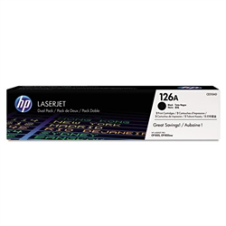 Genuine HP CP1025nw / M175nw MFP Black Smart Print Cartridge Dual-Pack CE310A / CE310AD