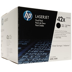 Genuine HP 4250 / 4350 / 4240 Dual Pack High Yield Toner Cartridge Q5942XD