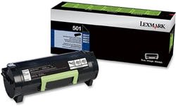 Genuine Lexmark MS310/MS410/MS510/MS610 Series Return Program Toner Cartridge (501) - 50F1000