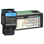 Genuine Lexmark C540/C543/C544/C546/X543/X544/X546 Cyan Return Program Toner Cartridge - C540A1CG