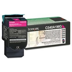 Genuine Lexmark C540/C543/C544/C546/X543/X544/X546 Magenta Return Program Toner Cartridge - C540A1MG