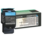 Genuine Lexmark C540/C543/C544/C546/X543/X544/X546 Cyan High Yield Return Program Toner Cartridge - C540H1CG