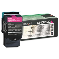 Genuine Lexmark C540/C543/C544/C546/X543/X544/X546 Magenta High Yield Return Program Toner Cartridge - C540H1MG