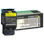Genuine Lexmark C540/C543/C544/C546/X543/X544/X546 Yellow High Yield Return Program Toner Cartridge - C540H1YG