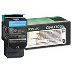 Genuine Lexmark C544/C546/X544/X546 Cyan High Yield Return Program Toner Cartridge - C544X1CG