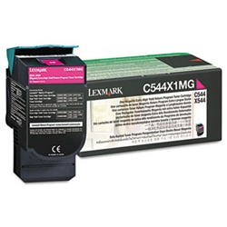 Genuine Lexmark C544/C546/X544/X546 Magenta High Yield Return Program Toner Cartridge - C544X1MG