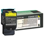 Genuine Lexmark C544/C546/X544/X546 Yellow High Yield Return Program Toner Cartridge - C544X1YG