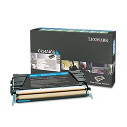 Genuine Lexmark C734/C736/X734/X736/X738 Cyan Return Program Toner - C734A1CG