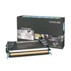 Genuine Lexmark C734/C736/X734/X736/X738 Black Return Program Toner - C734A1KG