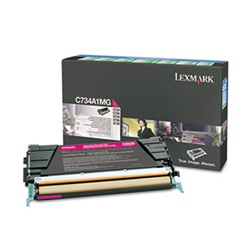 Genuine Lexmark C734/C736/X734/X736/X738 Magenta Return Program Toner - C734A1MG