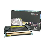 Genuine Lexmark C736/X736/X738 Yellow High Yield Return Program Toner - C736H1YG