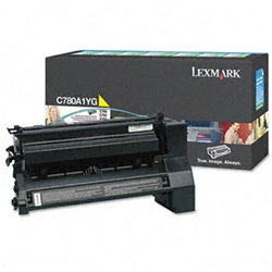 Genuine Lexmark C780/C782/X782 Yellow Return Program Toner Cartridge - CC780A1YG