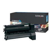 Genuine Lexmark C780/C782/X782 High Yield Cyan Toner Cartridge - CC780H2CG