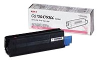 Genuine OKI C5100/5150/5200/5300/5400 Series Magenta Toner Cartridge - 42127402