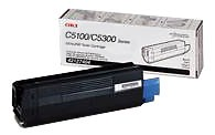 Genuine OKI C5100/5150/5200/5300/5400 Series Black Toner Cartridge - 42127404